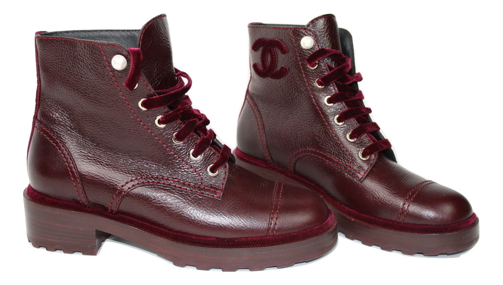 Chanel Combat Ankle boots, 39,5 - Iconics Preloved Luxury