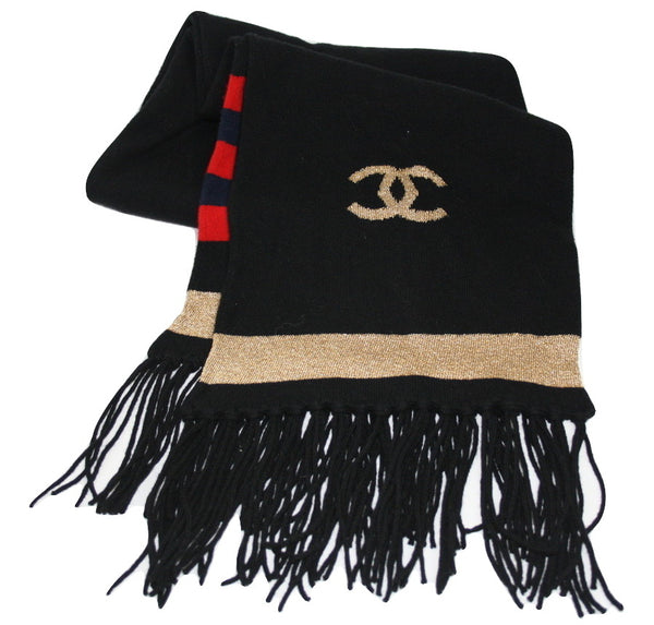 Chanel CC wool scarf - Iconics Preloved Luxury
