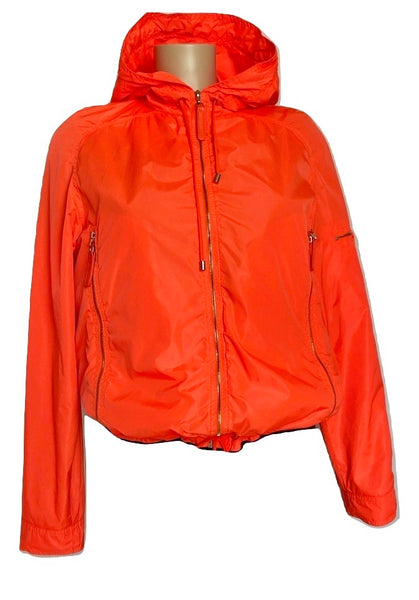 Chanel Orange Nylon Turnlock Jacket