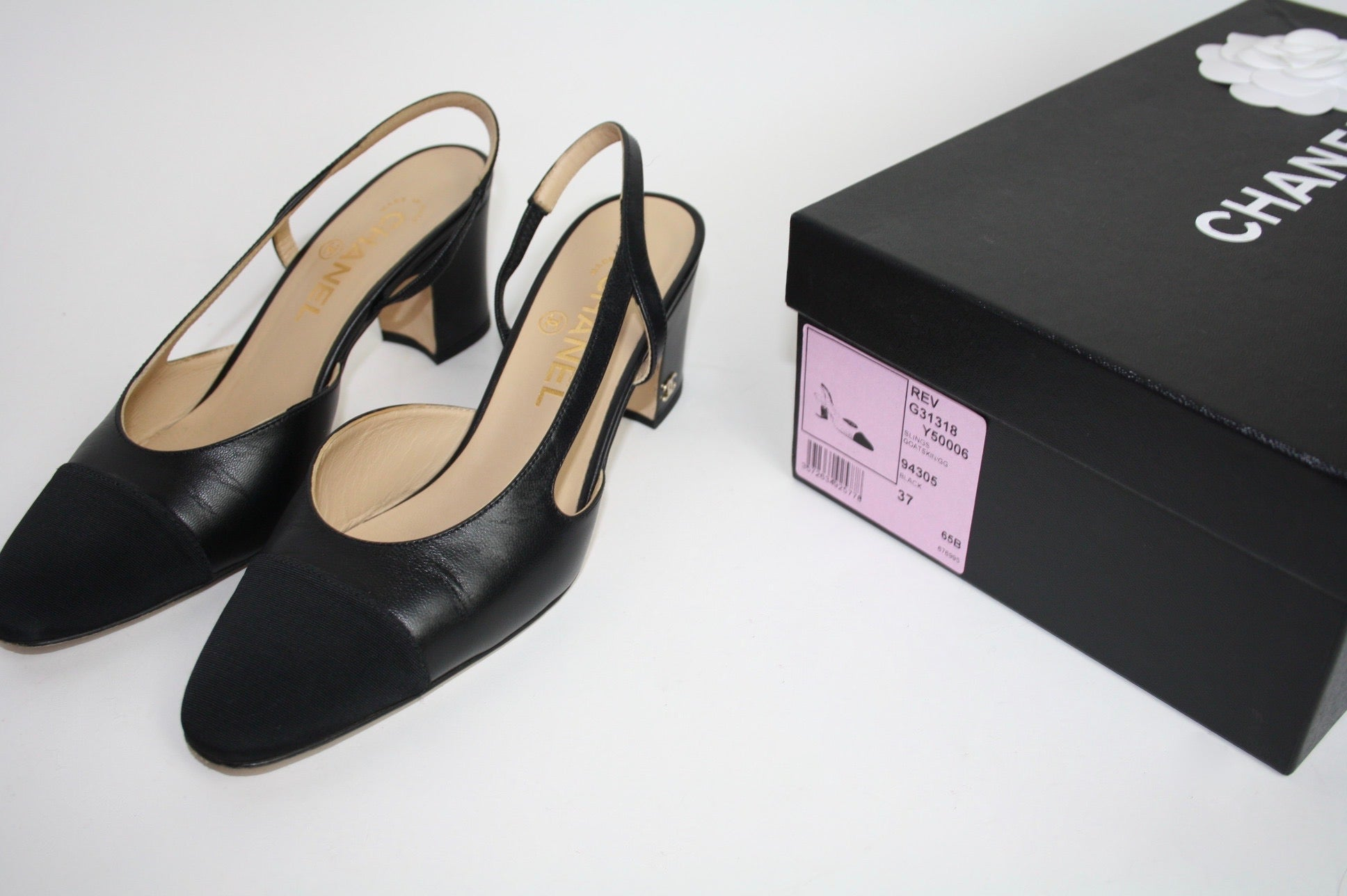Chanel Sling-back, 37 - Iconics Preloved Luxury