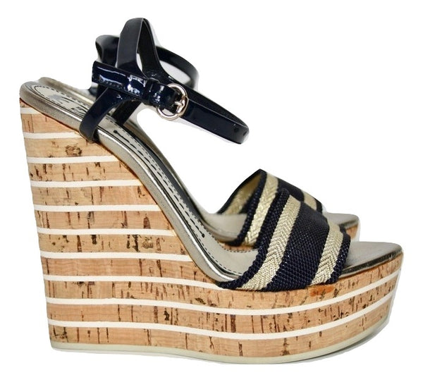 Gucci Wedge Sandals, 37 - Iconics Preloved Luxury
