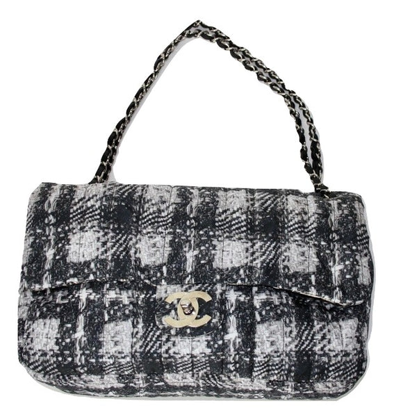 Chanel nylon tweed print flap bag - Iconics Preloved Luxury