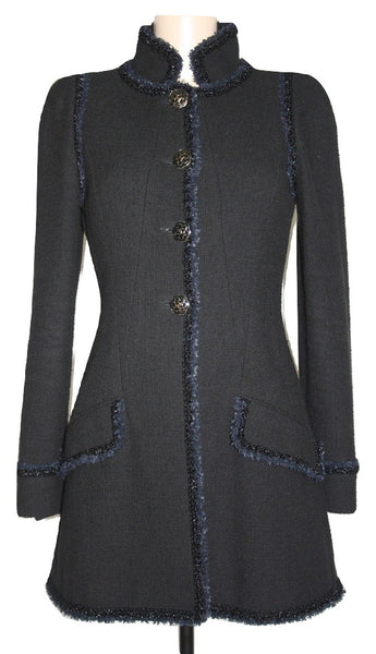 Chanel Camellia Button Blazer Jacket