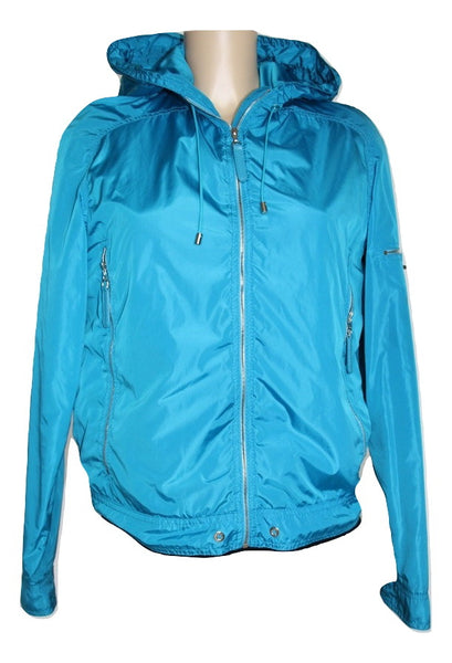 Chanel Blue Nylon Turnlock Jacket - Iconics Preloved Luxury