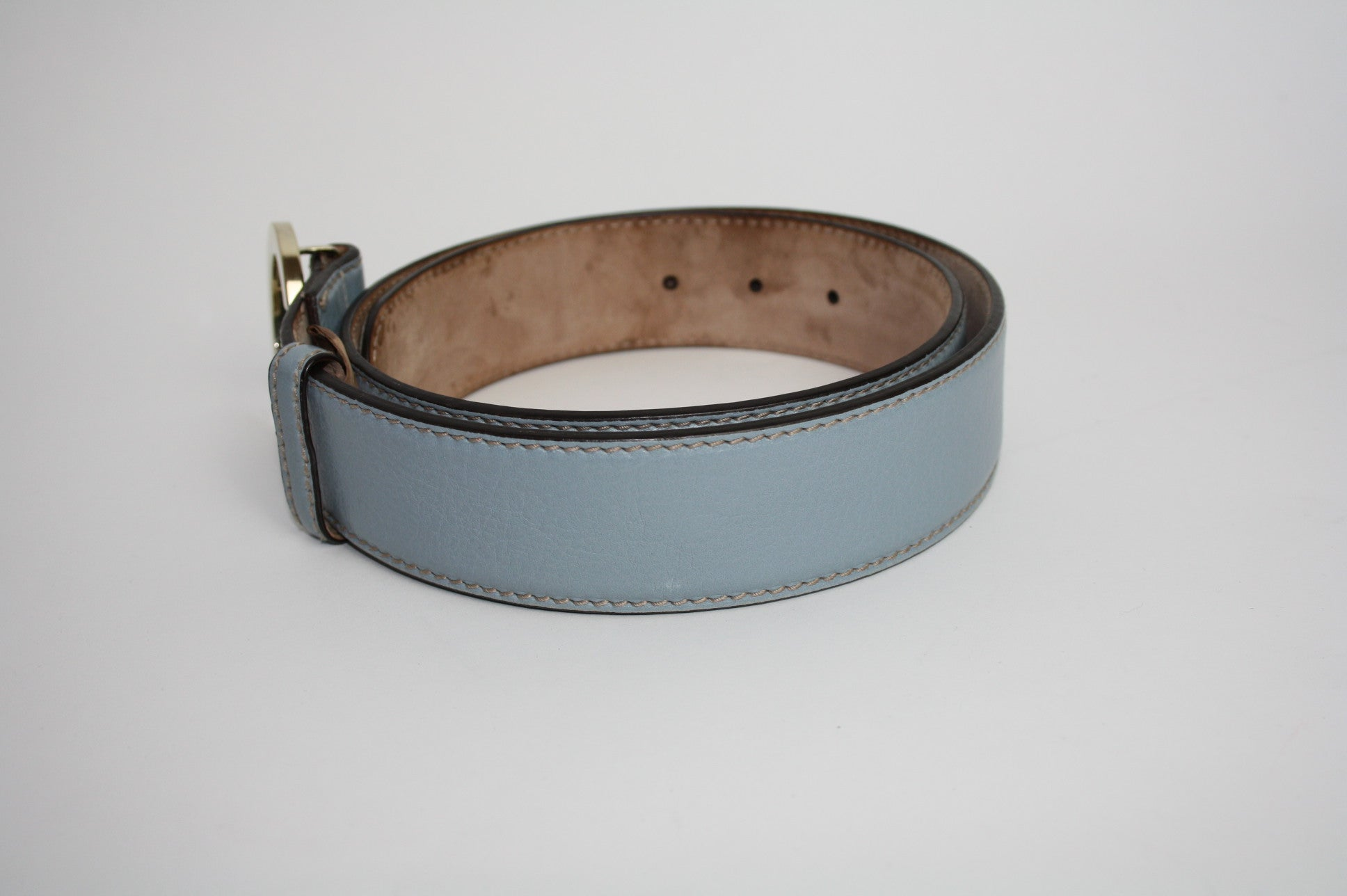 Gucci G blue belt - Iconics Preloved Luxury