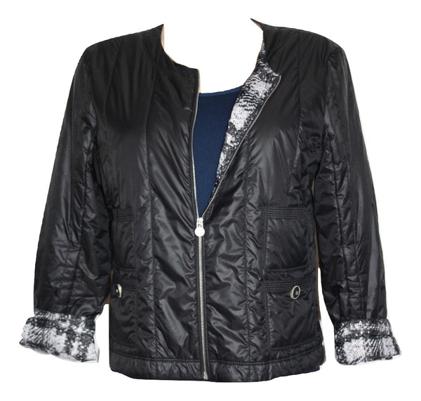 Chanel Nylon Black Jacket,42