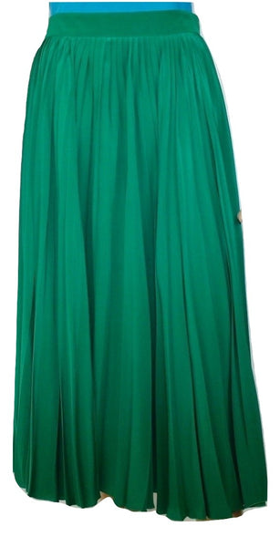 Gucci Pleated Green Skirt,M
