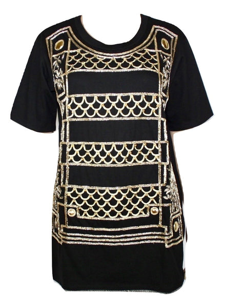Balmain Embroidered T-shirt, 40 - Iconics Preloved Luxury
