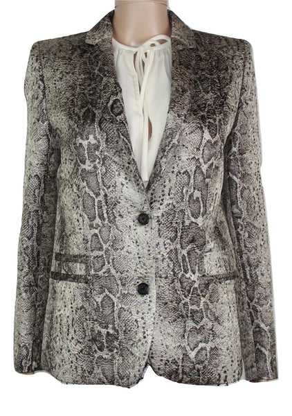 Zadig & Voltaire Snake Print Blazer, 38 - Iconics Preloved Luxury
