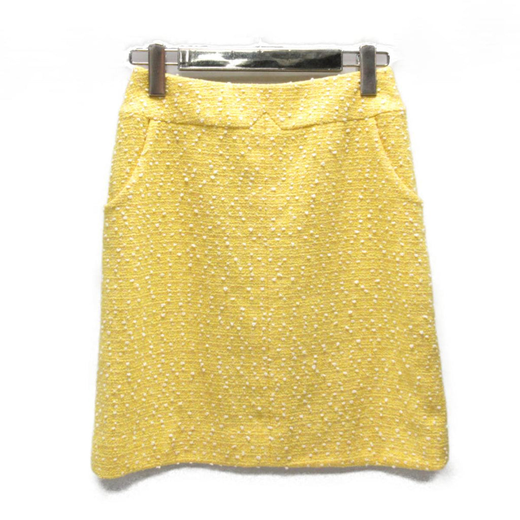 Chanel Yellow Skirt FR38 - Iconics Preloved Luxury