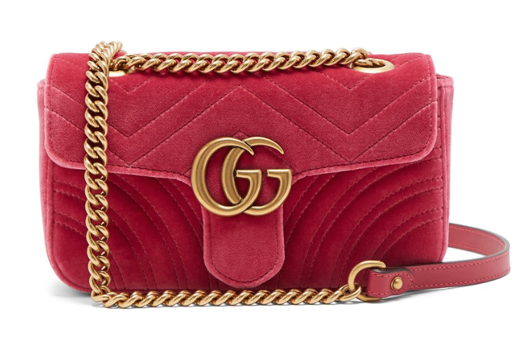 Gucci GG Marmont Velvelt mini Shoulder bag - Iconics Preloved Luxury