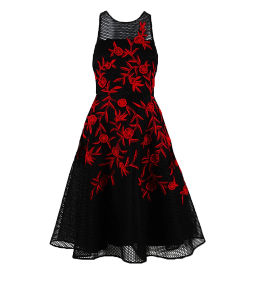Sachin + Babi Noir Floral Embroidered dress, 6 - Iconics Preloved Luxury