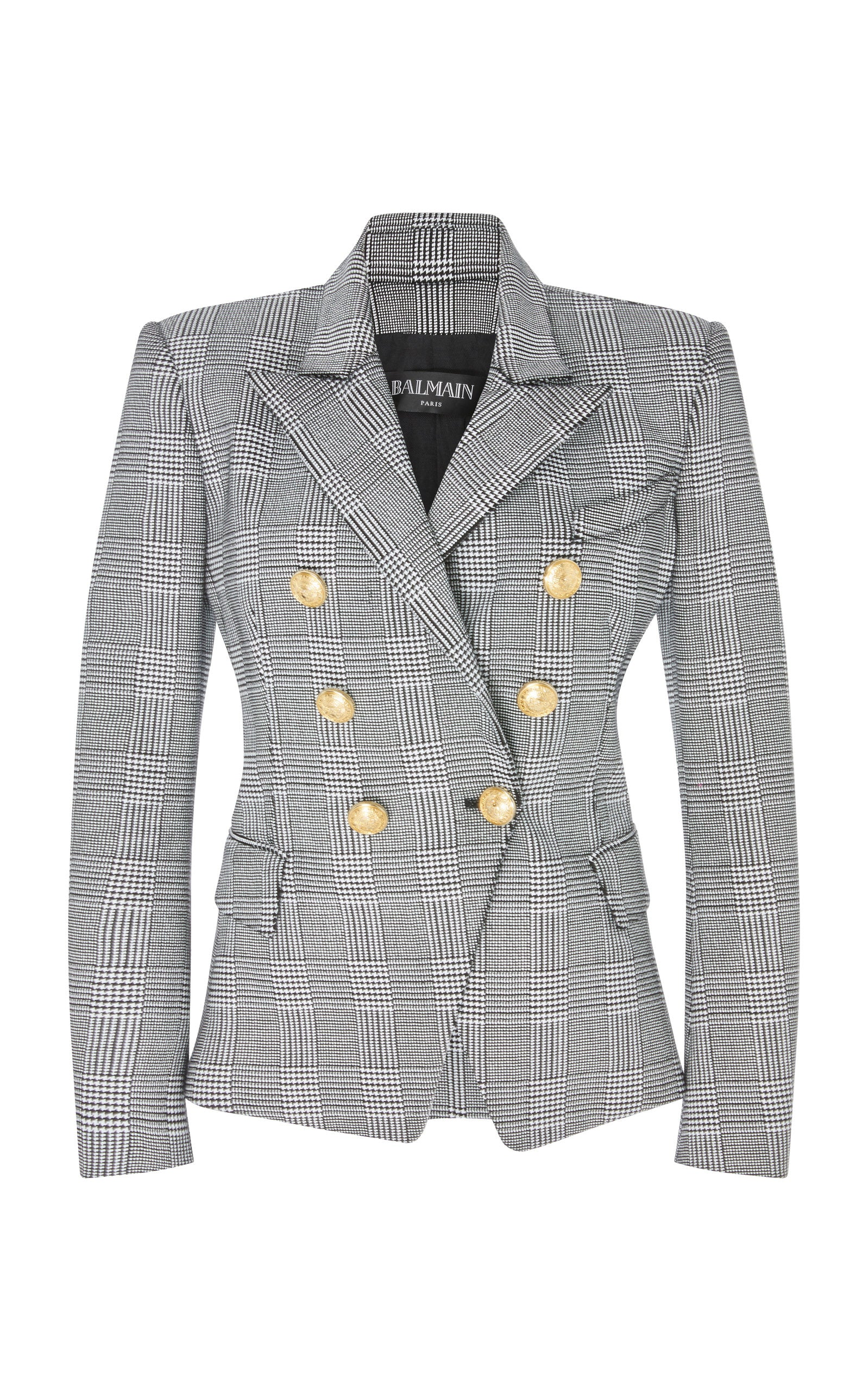 Balmain ginham blazer - Iconics Preloved Luxury