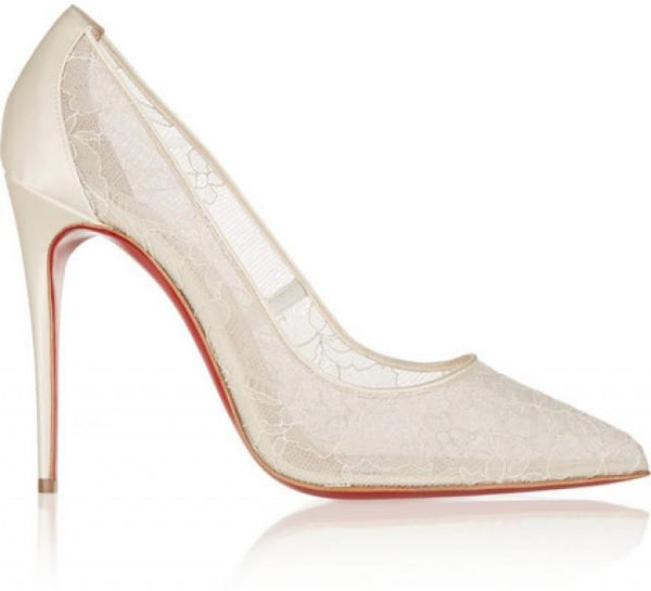 Christian Louboutin Lace Pumps, 40 - Iconics Preloved Luxury