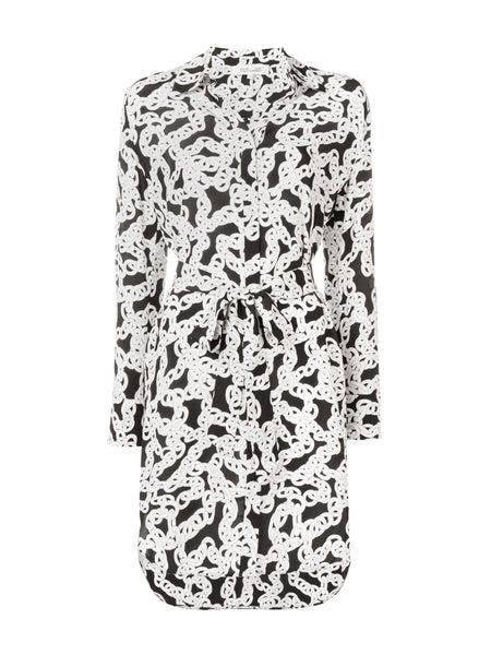 Diane Von Furstenberg Chain print shirt dress