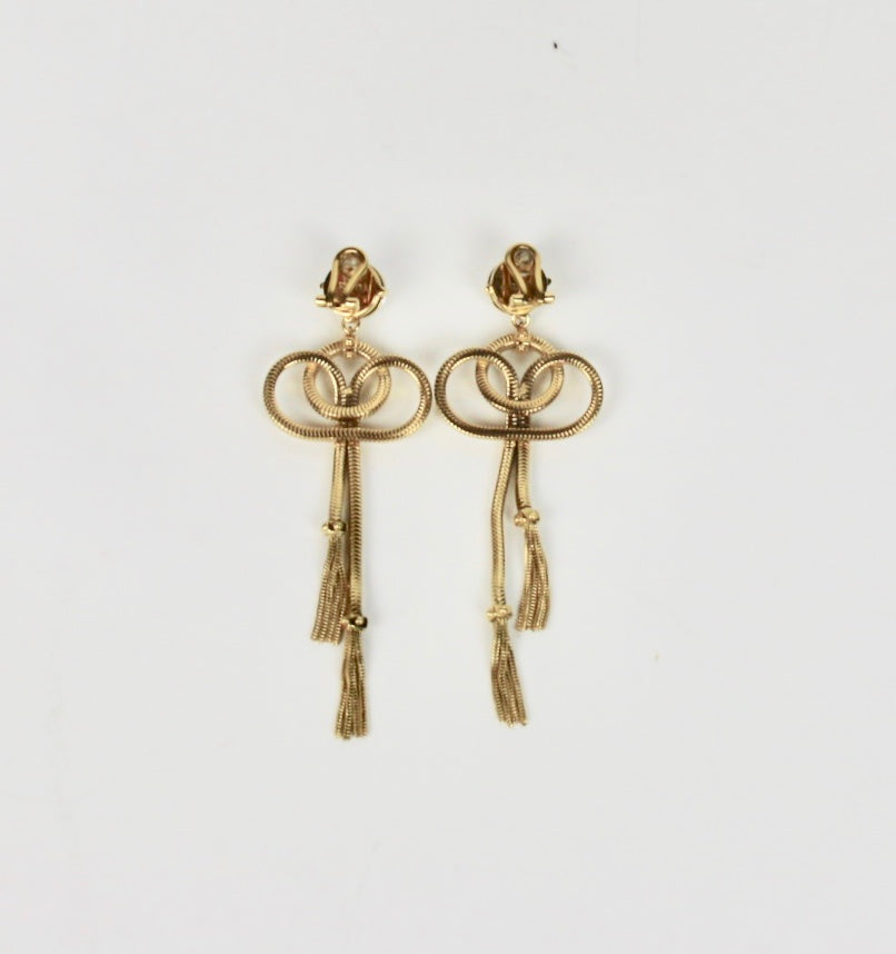 Prada Gold-tone clip earrings
