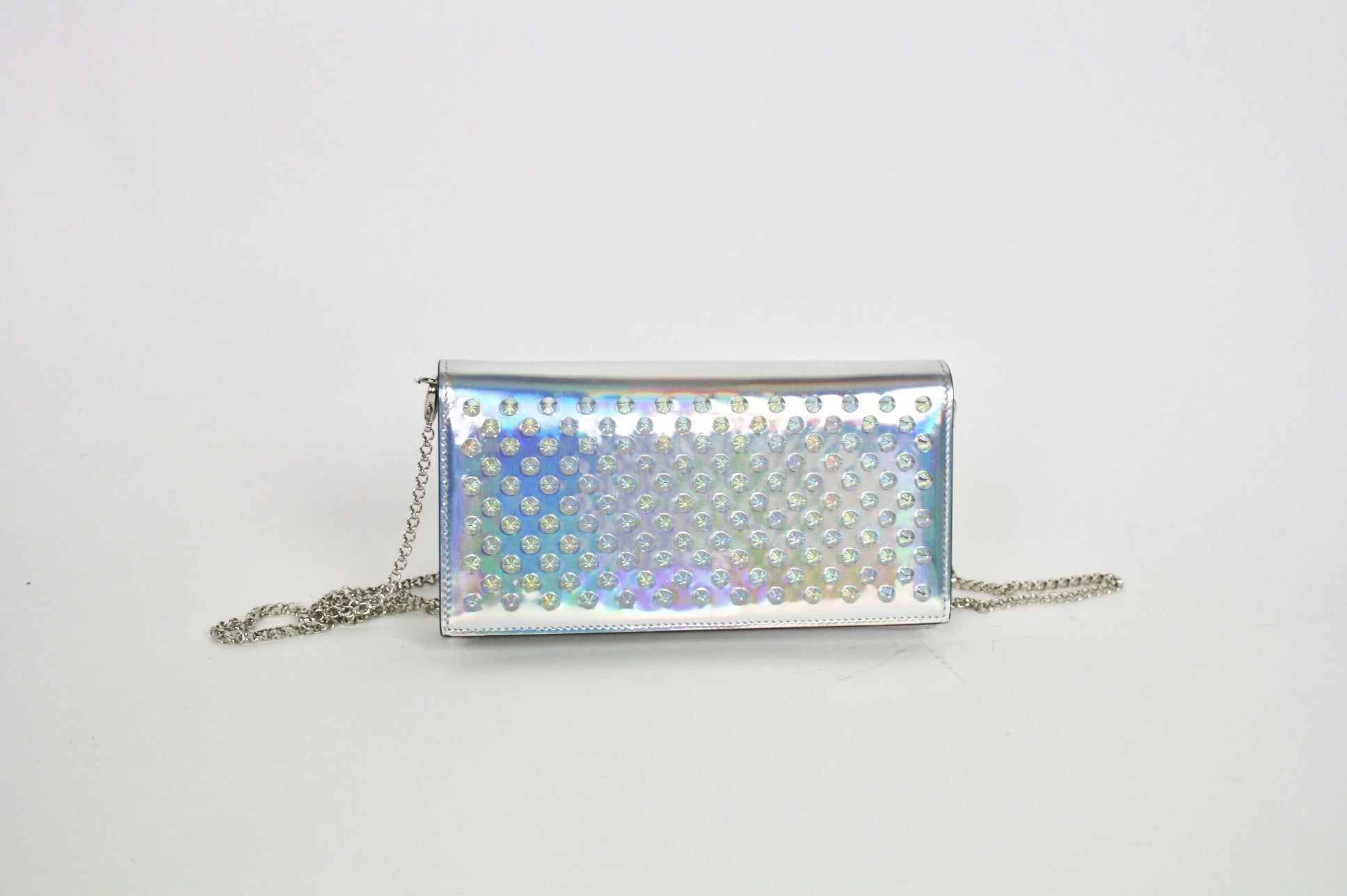 Louboutin Spiked iridescent bag - Iconics Preloved Luxury
