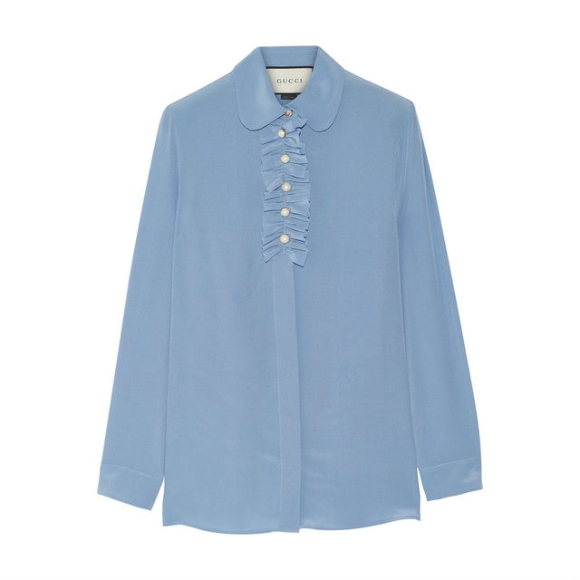 Gucci Ruffle Blouse - Iconics Preloved Luxury