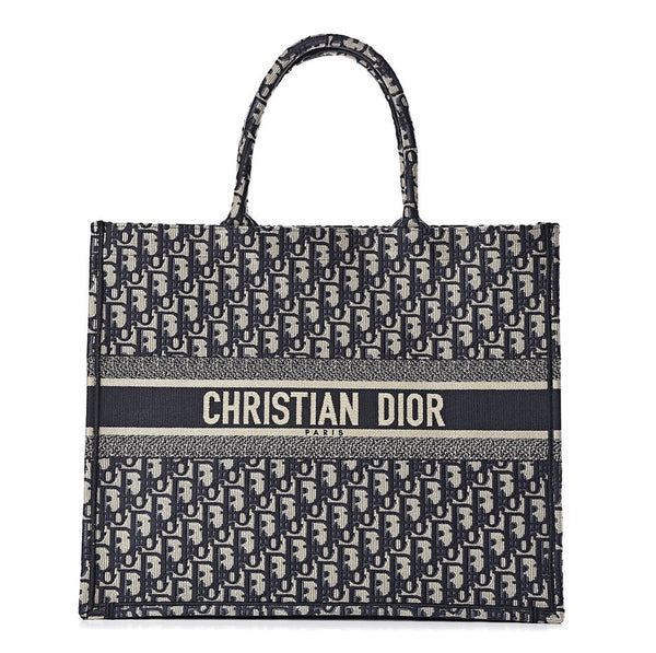 Dior Embroidered Book Tote - Iconics Preloved Luxury