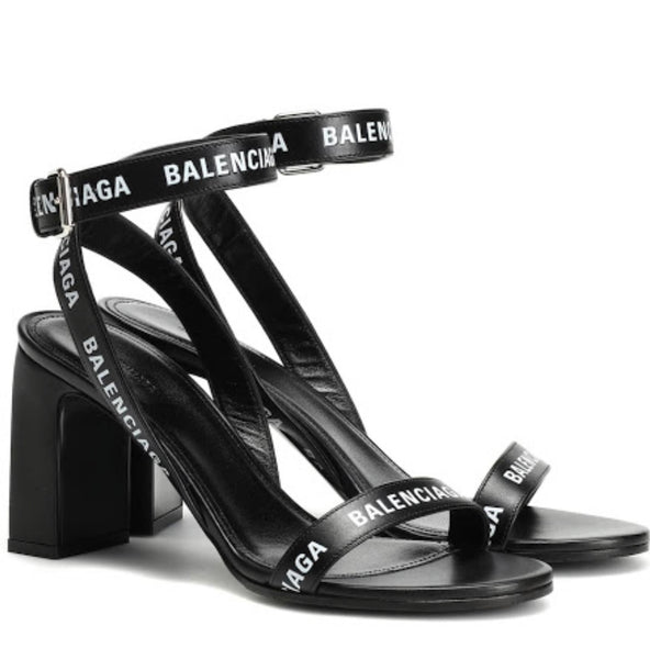 Balenciaga Logo strap sandals 40,5 - Iconics Preloved Luxury