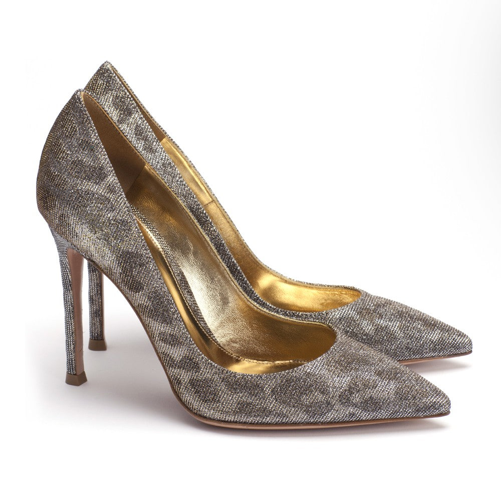 Gianvito Rossi Glitter Pumps 36 - Iconics Preloved Luxury