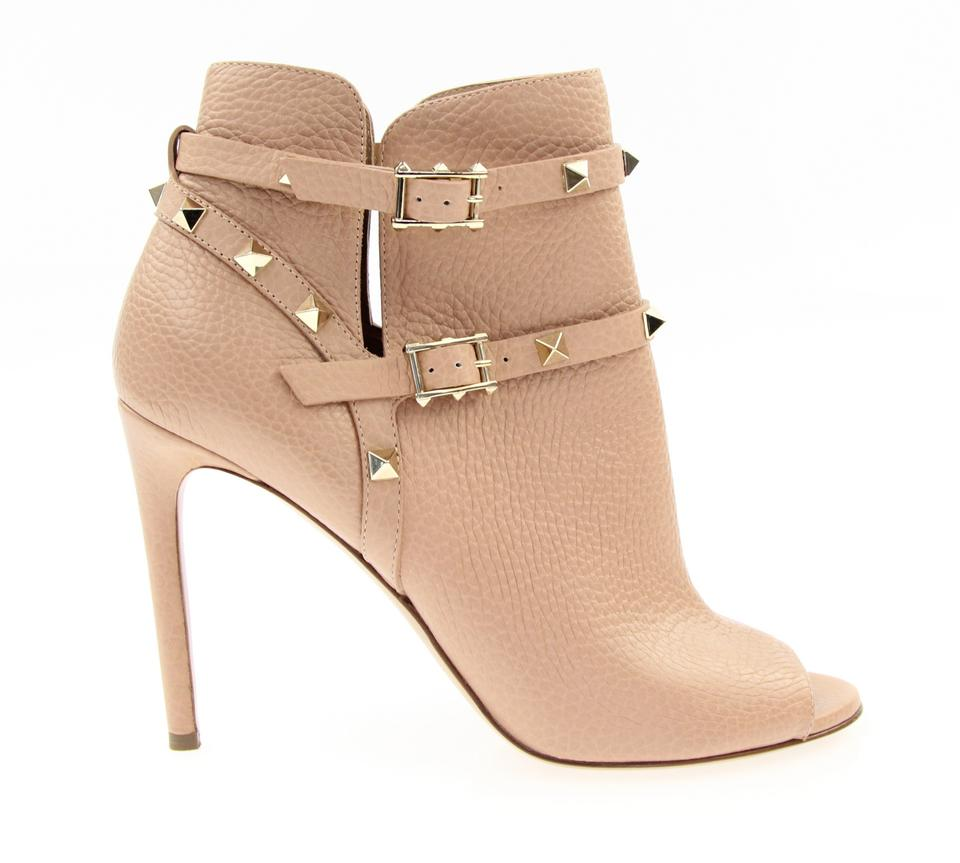 Valentino Rockstud Peep Toe Ankle Bootie, 40 - Iconics Preloved Luxury