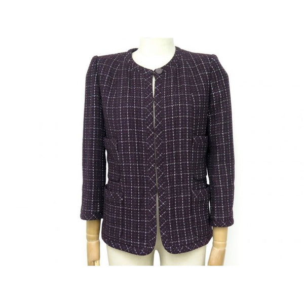 Chanel Purple Tweed Jacket - Iconics Preloved Luxury