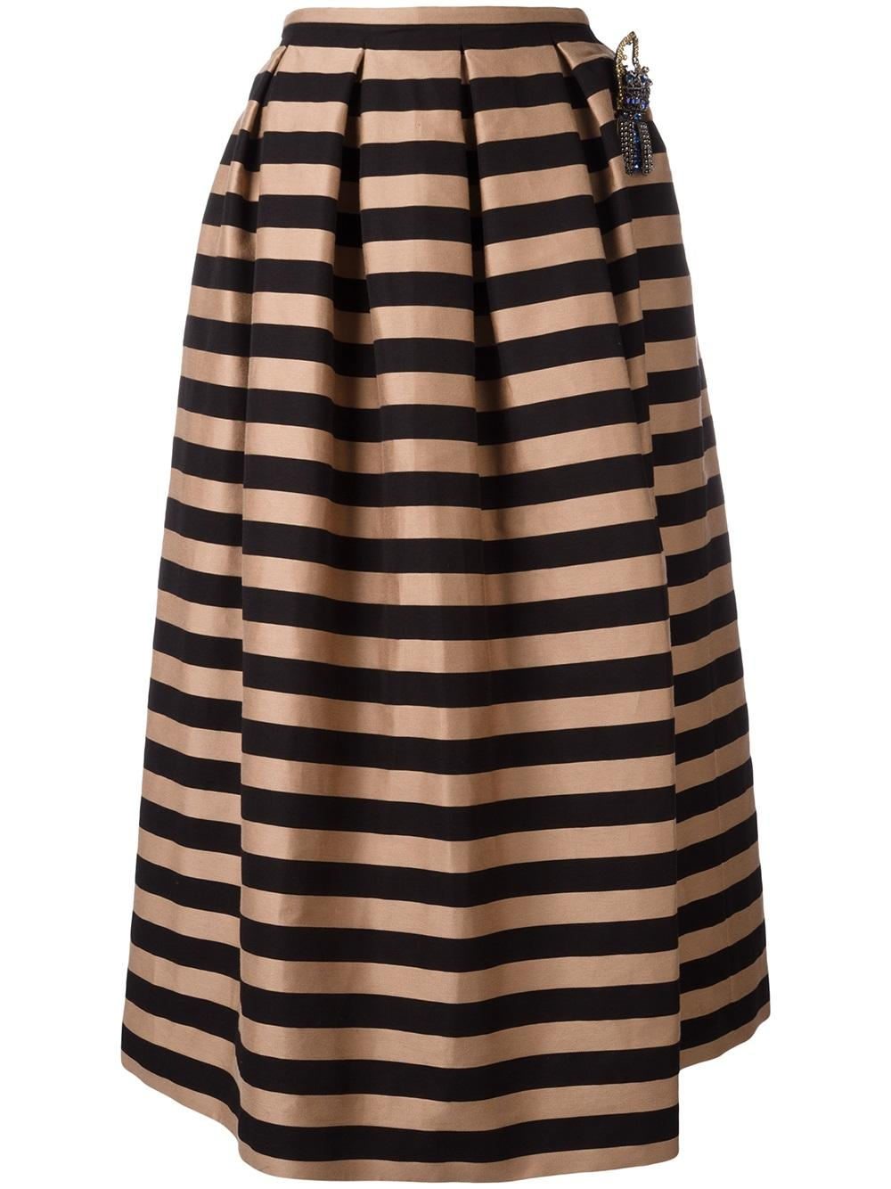 Rochas black/nude pleated skirt - Iconics Preloved Luxury