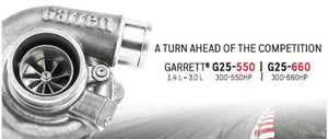 G25-550 Garrett Turbo 0.72/ar vband (std rotation)