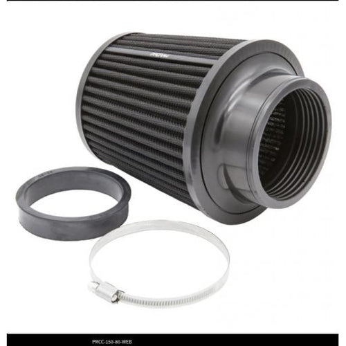PRORAM Rubber Neck 70mm/80mm High Flow Pleated Cone Air Filter