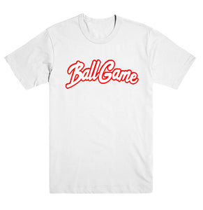 Ball Game Tee White/Red