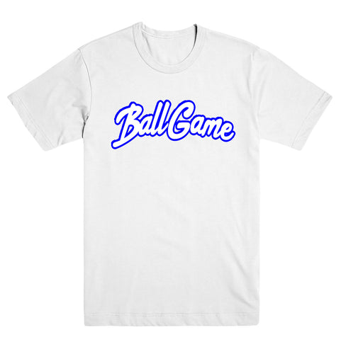 Ball Game Tee White/Blue
