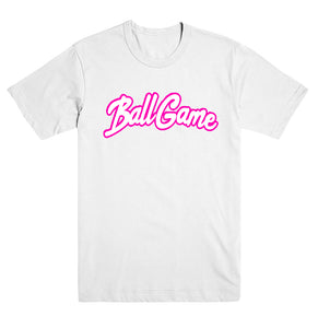 Ball Game Tee White/Pink