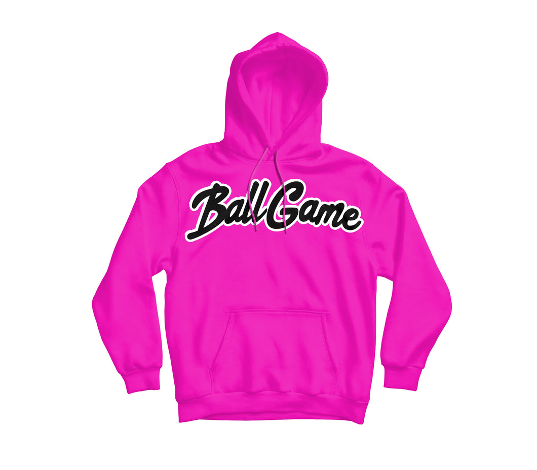 Ball Game Hoodie Pink/Black