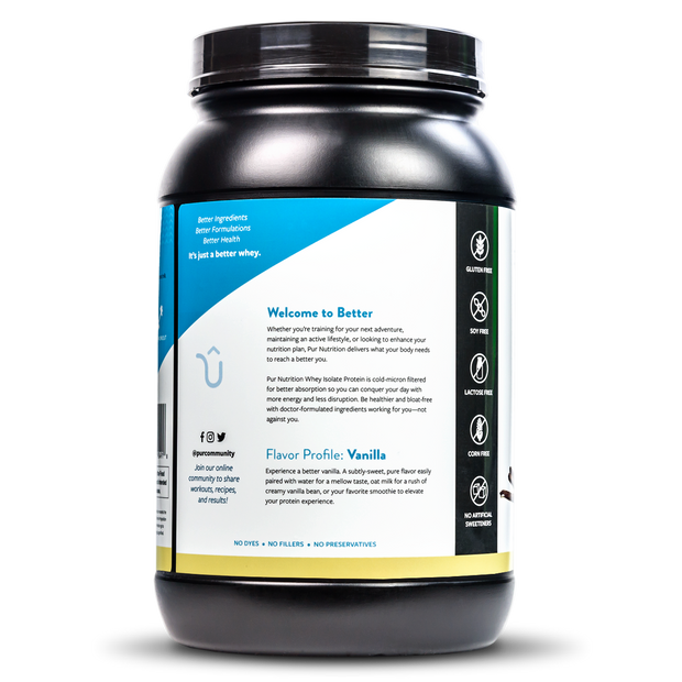 Great tasting, USDA Certified Organic, Vanilla, Whey Isolate Protein Powder