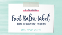 FREEBIE: Foot Balm Label