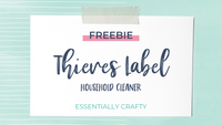 FREEBIE: Thieves Household Cleaner Label