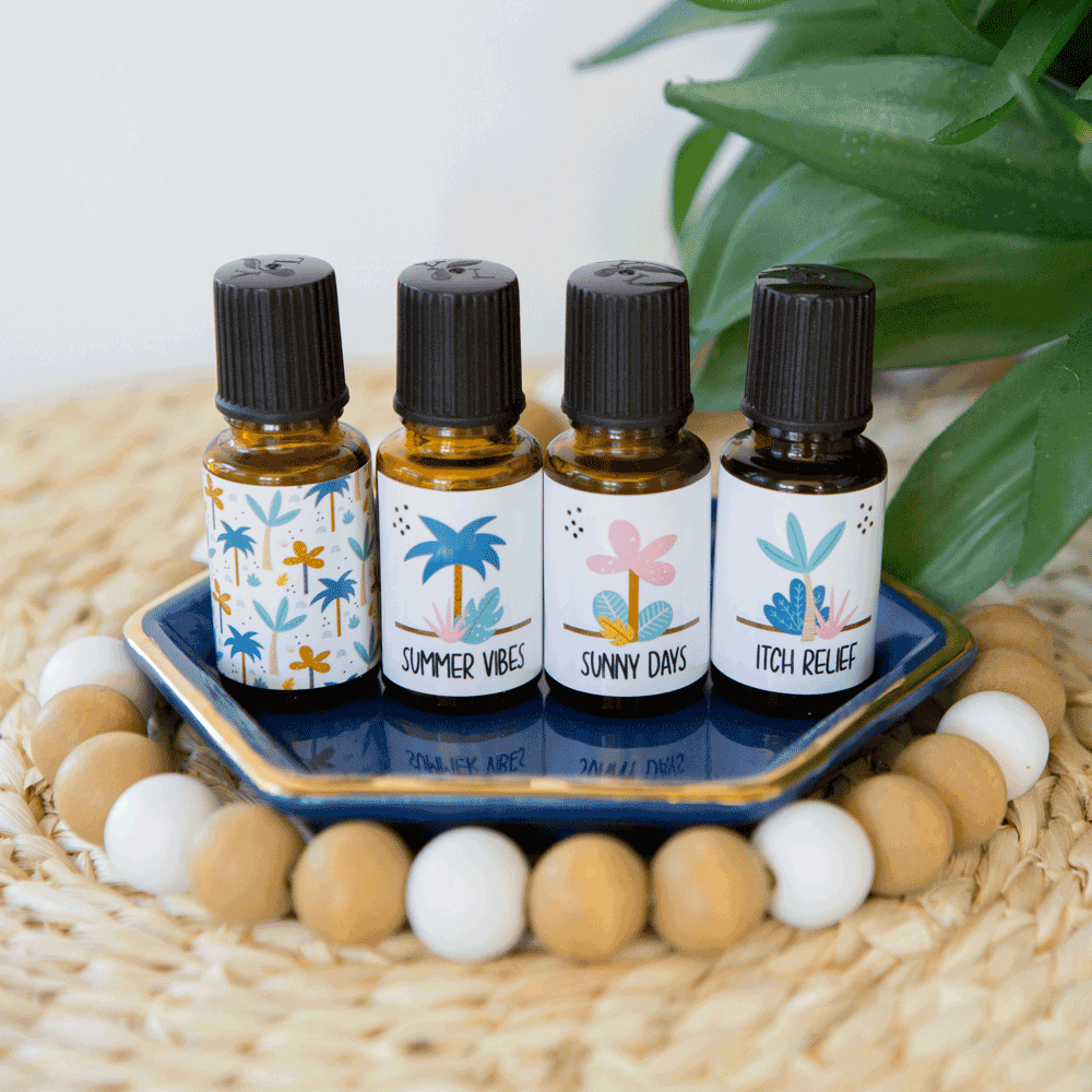 "EDITABLE ""Tropical"" Essential Oil Bottle Labels (15ml and 1oz)"