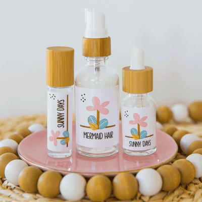 "EDITABLE ""Tropical"" Printable Collection (5ml, 10ml, 15ml, 1oz, 2oz)"