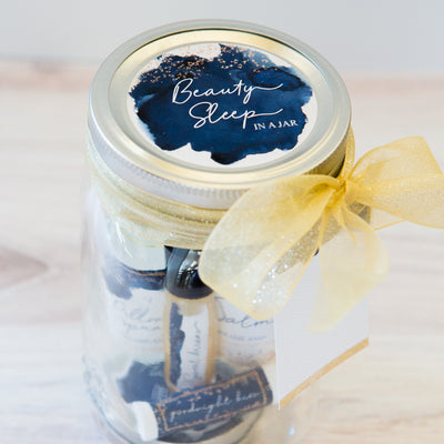 "PRINTED ""Beauty Sleep in a Jar"" Labels"