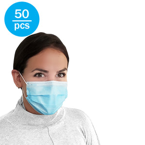 3-Ply Disposable Face Masks - 95% Filtration Rate