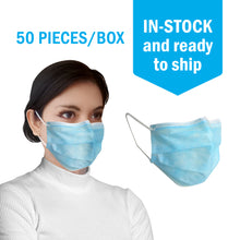 Load image into Gallery viewer, 3-Ply Disposable Face Masks - 95% Filtration Rate