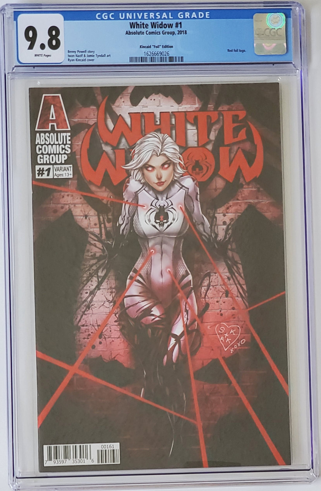 White Widow #1G 9.8 CGC - HUNTED - Blue Label