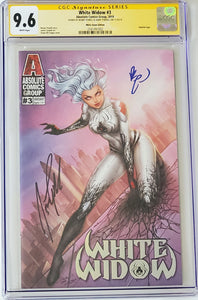 White Widow #3H 9.6 CGC Yellow Label - White Dawn- Signed