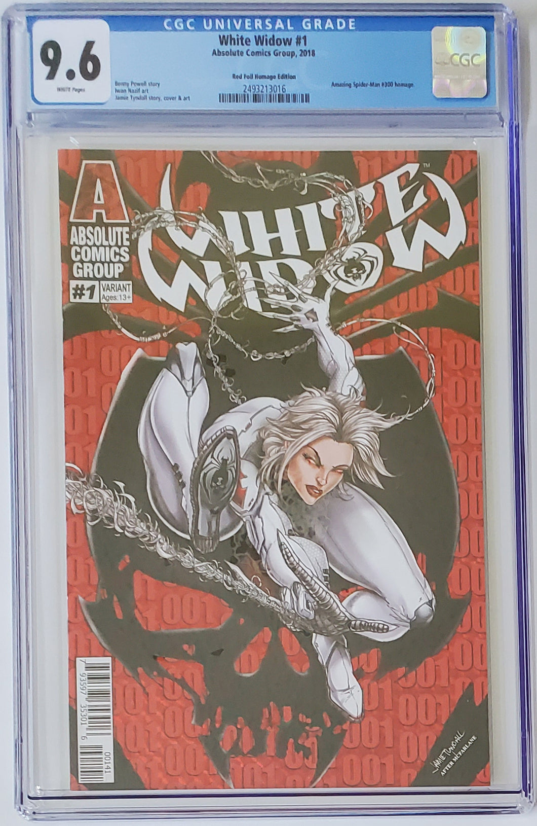 White Widow #1D - Homage Webslinger - CGC 9.6 Blue Label