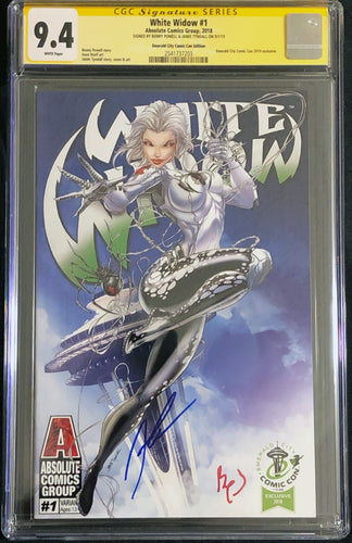 White Widow #1 9.4 CGC Yellow Label - Jamie Tyndall Emerald City Exclusive Signed