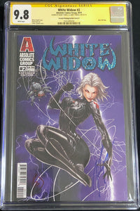 White Widow #2B2 9.8 CGC Yellow Label - Black Lightning Retail Extended Edition Signed (2nd Print)