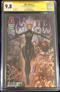 White Widow #2C2 9.8 CGC Yellow Label - Metallic Ink Retail Extended Edition Signed (2nd Print)