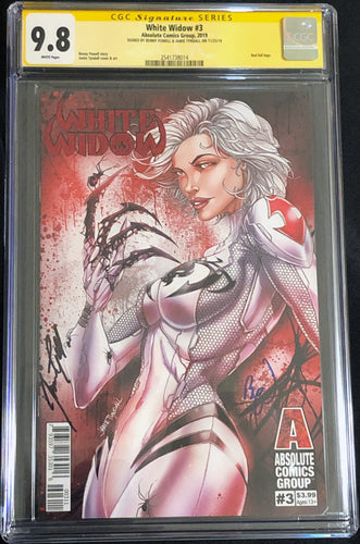 White Widow #3A 9.8 CGC Yellow Label - Claws Out - Signed