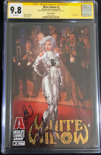 White Widow #3G 9.8 CGC Yellow Label - Premiere- Signed